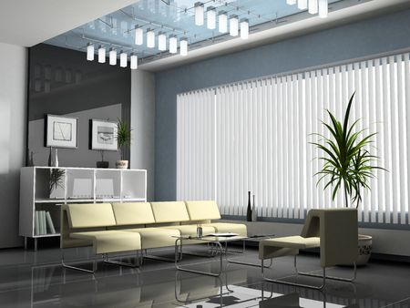 Interior office for negotiations 3D rendering Stock Photo