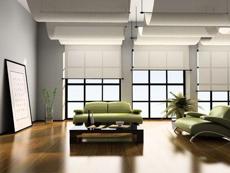 Home Innen-3D-Rendering