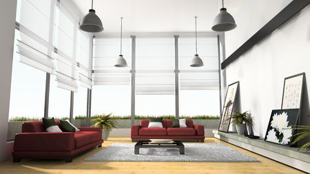 Home interior 3D rendering Stock Photo - 1164558