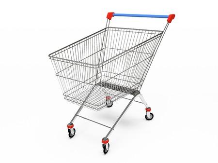 trundle: Empty pushcart 3D rendering