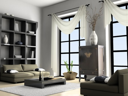 Home interior 3D rendering  Stock Photo - 1412690