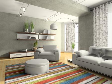 Home Interieur Salon 3D-Rendering