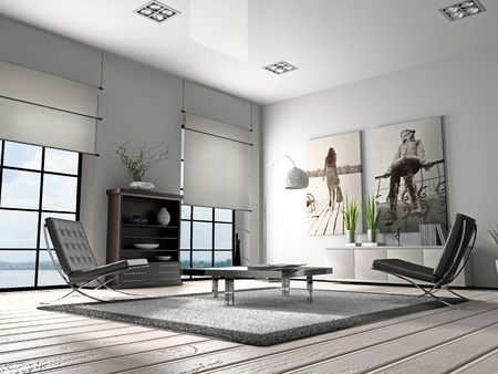 Home interior 3D rendering photo
