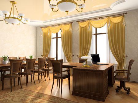 arredamento classico: Ufficio interno di rendering 3D