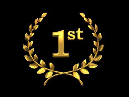Gold Symbol des Sieges (erster Platz) f�r 3D-Rendering