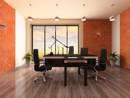 Innere der modernen B�ro-3D-rendering