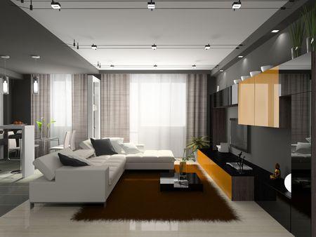 Innenansicht des stilvollen Wohnung. Foto-Magazin wurde von mir, ich hochgeladen Modell's Release