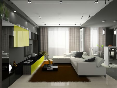 release: Interior of the stylish apartment. Photo on magazine was made by me, I uploaded models release