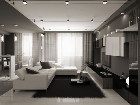 Interior of the stylish apartment. Photo on magazine was made by me, I uploaded models release