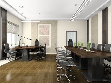 Modern interior for negotiations Stock Photo