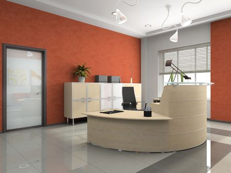 areas: Interior of the modern reception in office Stock Photo