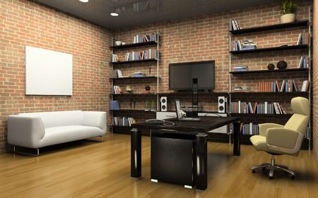 Interior of the private office 3D Stock Photo