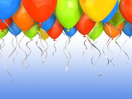 Party Ballone 3D-Hintergrund