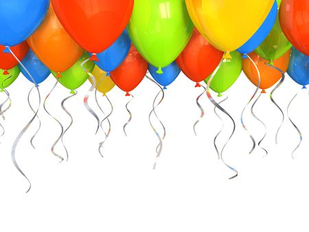 float fun: Party balloons background 3D