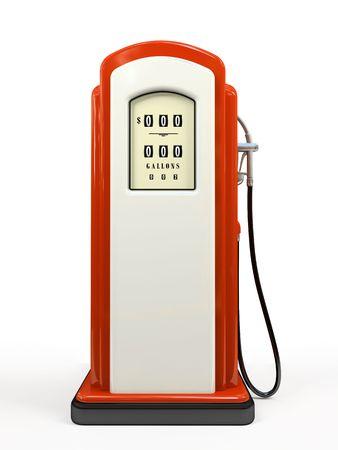 Benzin-Pumpe auf 3D Rendering wei�en Hintergrund isoliert