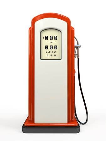 filling station: Gasoline pump isolated on white background 3D rendering