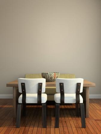 Deel van het moderne interieur 3D-rendering