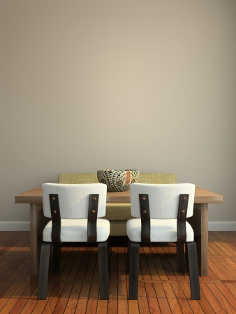 Part of the modern interior 3D rendering