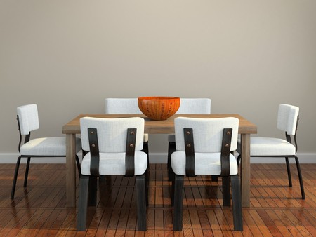 dining room: Part of the modern interior 3D rendering
