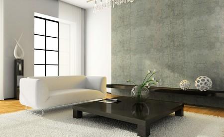 Weer geven op het moderne interieur