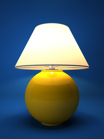 isoated: Lamp isolated on blue background 3D