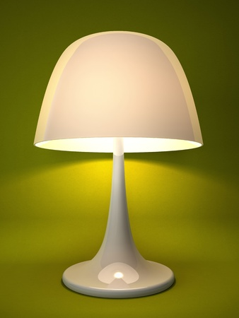 isoated: Lamp isolated on green background 3D rendering