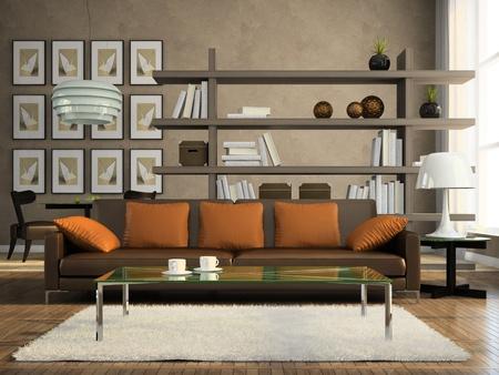 モダンなアパートメント 3 D レンダリングの一部