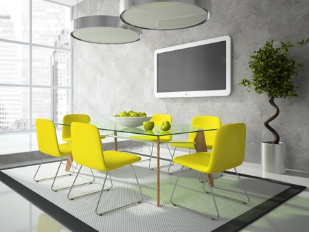 Part of the modern drawing room 3D Stock Photo - 10937258
