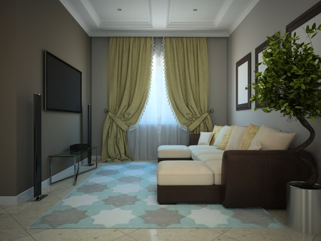 Part of the modern country-house 3D photo