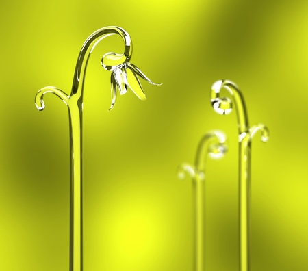 germinate: Photorealistic sprouts grow in spring 3D rendering Stock Photo