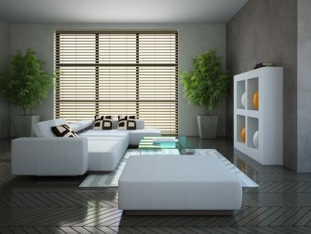 arredamento classico: Modern interior con due impianti in 3D