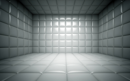 clean room: Empty room in the funny farm 3D rendering Stock Photo