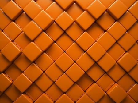 Abstract pattern of  rhombus orange pieces illustration Stock Illustration - 15698756