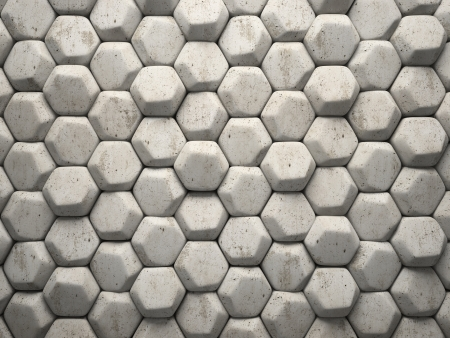hexahedron: Abstract pattern of hexahedron stone pieces illustration