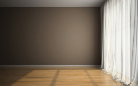 Empty room in waiting for tenants illustration Stock Photo