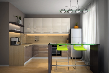 situation: Part of the modern kitchen illustration