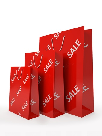 Sale paper bags isolated on white background illustration Stock Illustration - 16175263