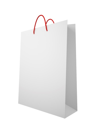 White carrier paper bag isolated on white background illustration illustration