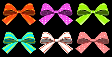 Colored gift bows isolated on background illustration Stock Illustration - 16667848