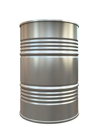 cilindro de gas: Barril del metal aislado en el fondo blanco ilustraci�n Foto de archivo