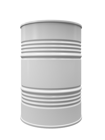 Metal barrel isolated on white background illustration 스톡 콘텐츠
