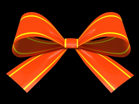 Red gift bow isolated on background illustration Stock Illustration - 16667842