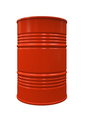 Red Metal barrel isolated on white background illustration illustration