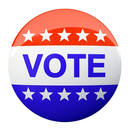 American vote button isolated on background illustration Stock Illustration - 18827697