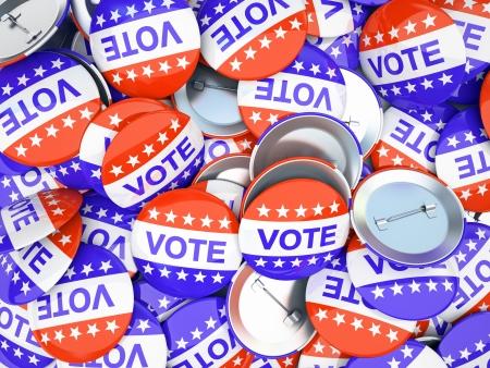 American vote buttons illustration Stock Illustration - 18827954