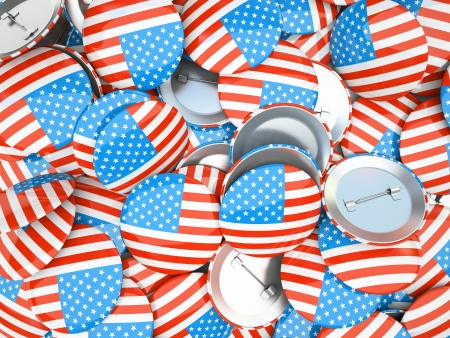 Buttons with American flag illustration illustration