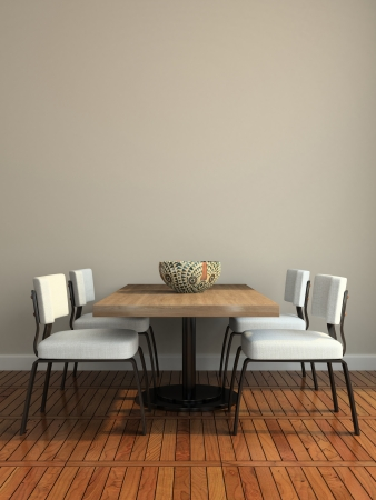 Part of the modern dining-room illustration Stock Photo