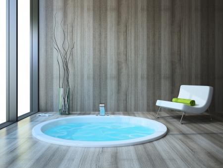 cuarto de ba�o: Cuarto de ba�o de estilo moderno