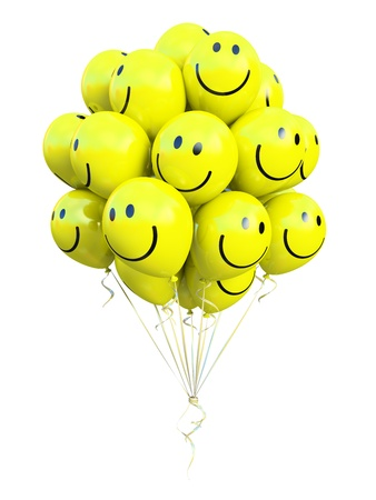 o2: bunch of yellow balloons smiling