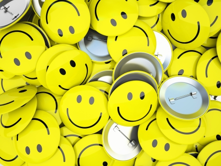 gladness: Buttons with smiles Stock Photo